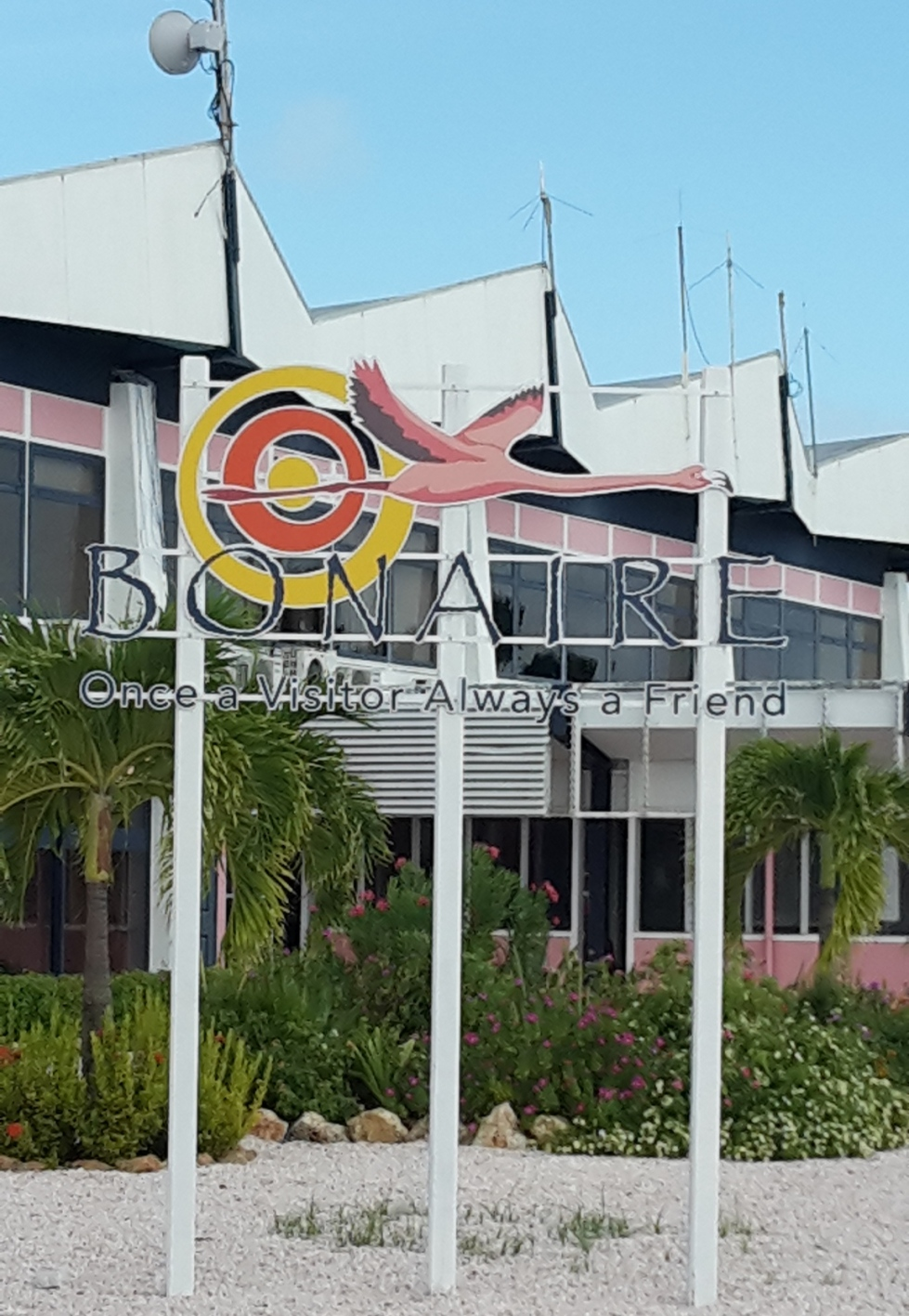Bonaire airport sign