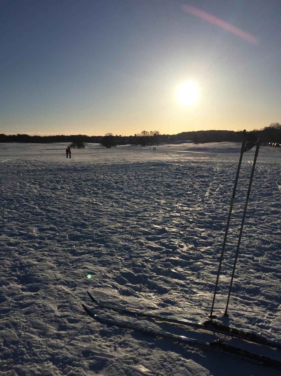 Skidor i snö