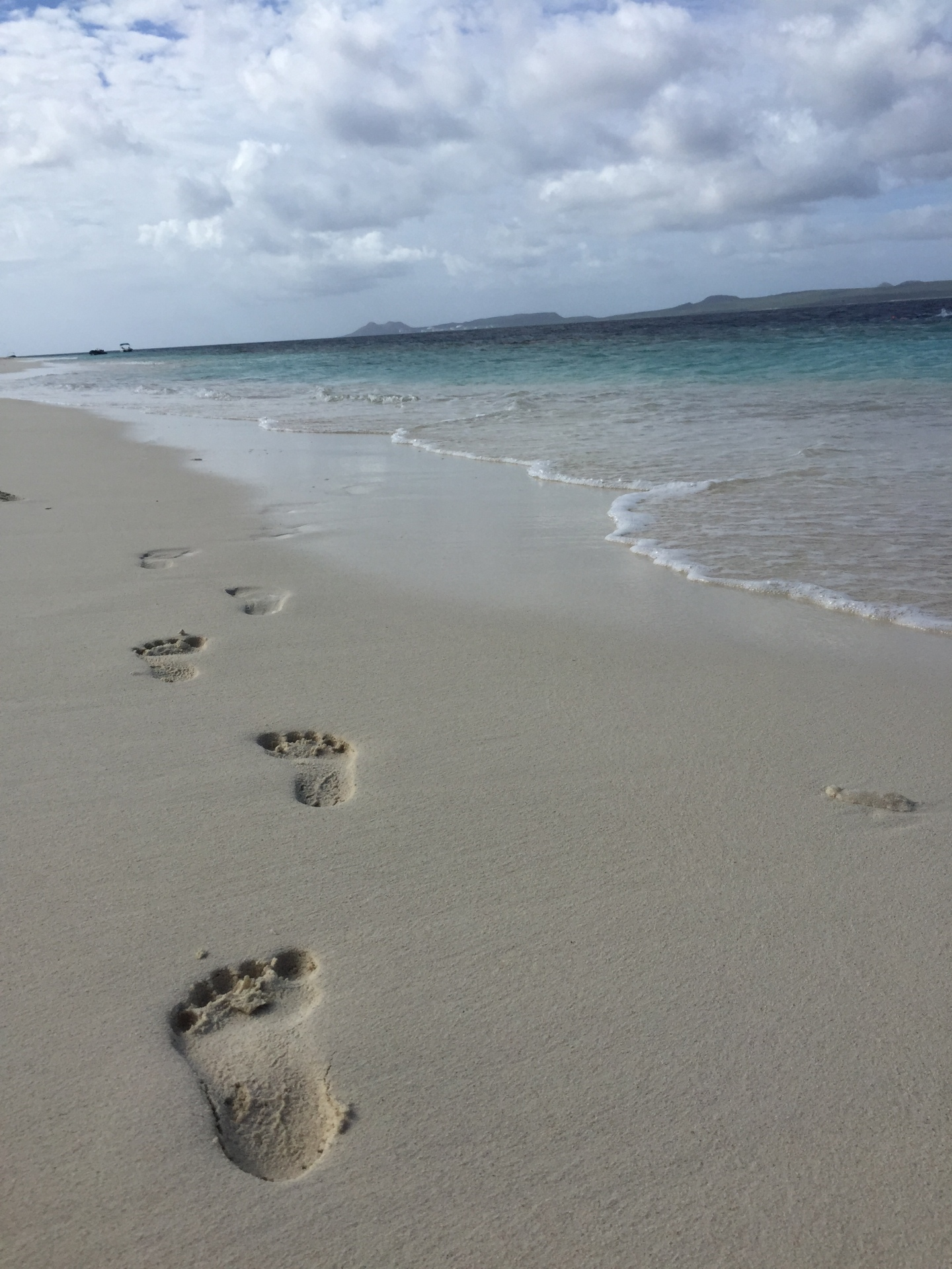 Footsteps at a beach