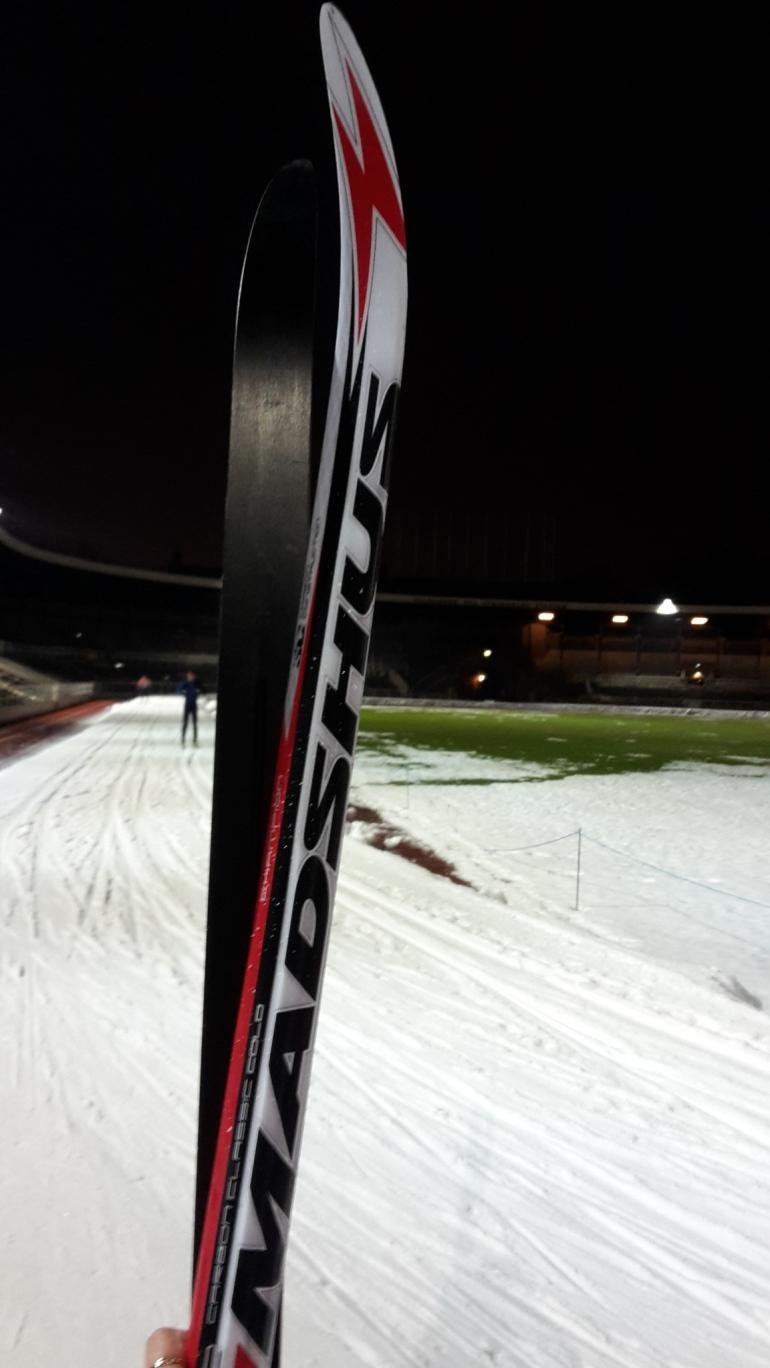 Skidor på Stadion