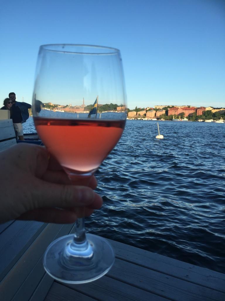 Rose wine in Stockholm