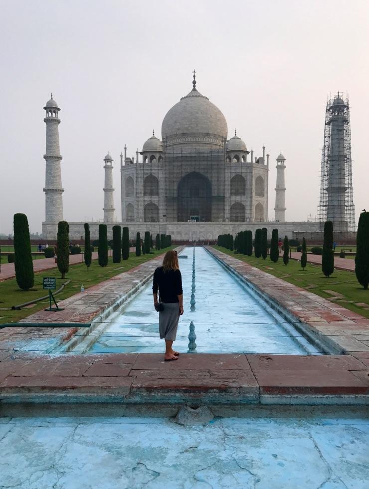 Watching Taj Mahal