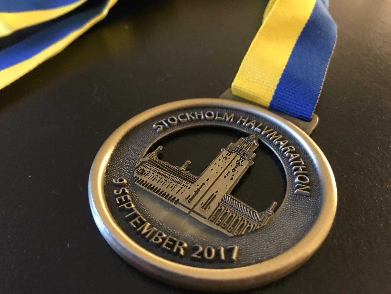 Medalj Stockholm halvmarathon