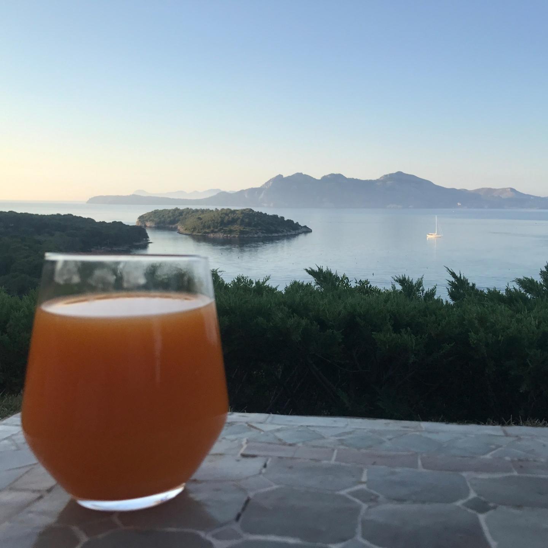 Morning drink at Mallorca