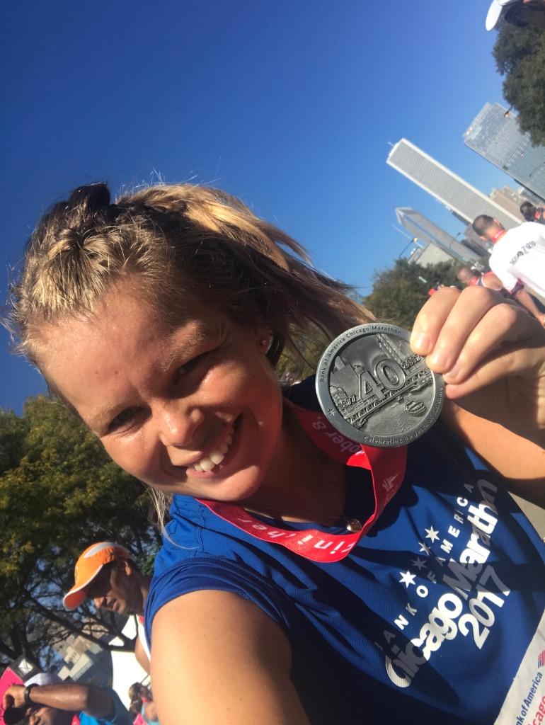 Marathon finisher
