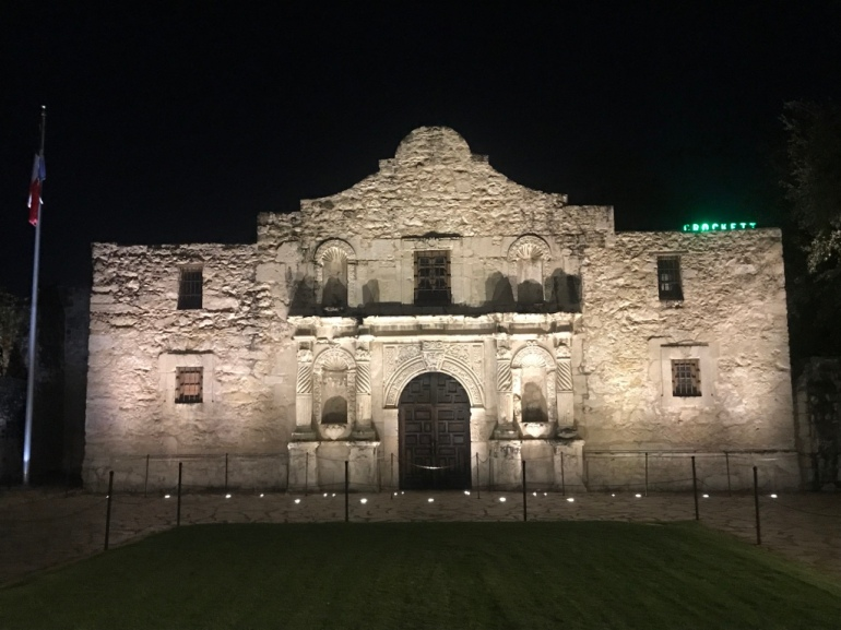 Alamo by night