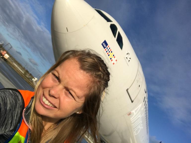 Aircraft selfie
