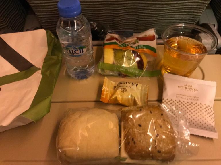 Economy food, Etihad airways