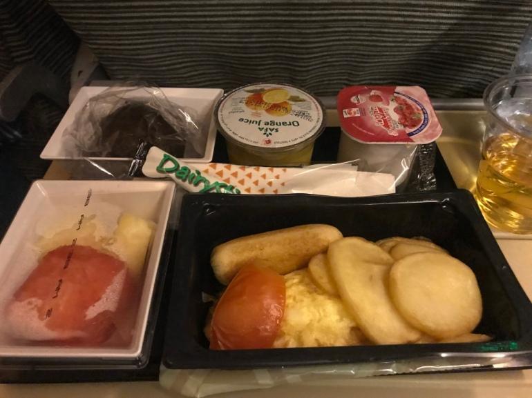Etihad airways, breakfast