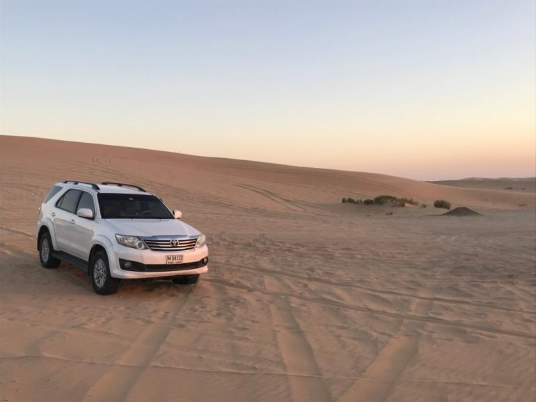 Driving sand dunes