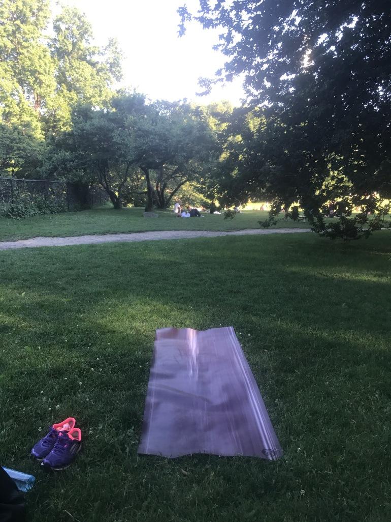 Central park yoga